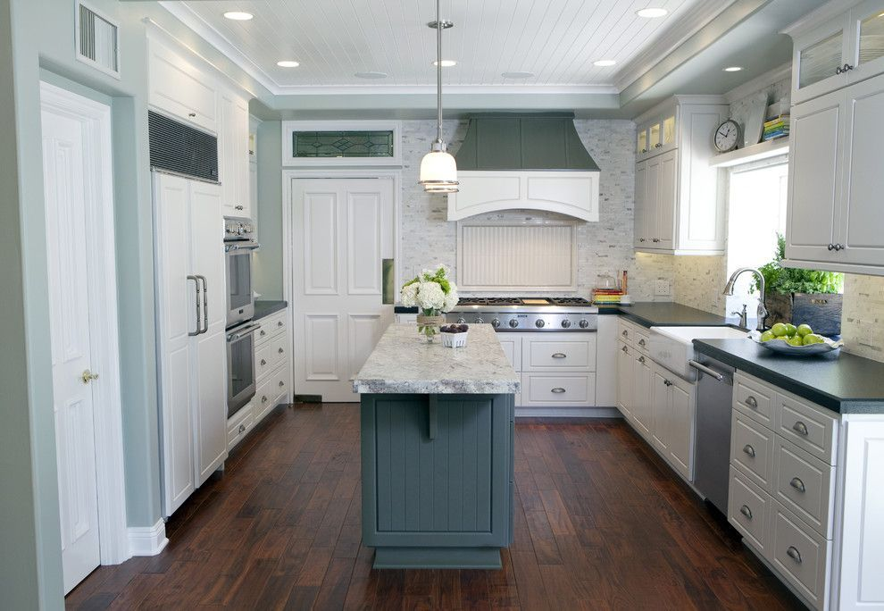 Sea Salt Sherwin Williams For A Traditional Kitchen With A