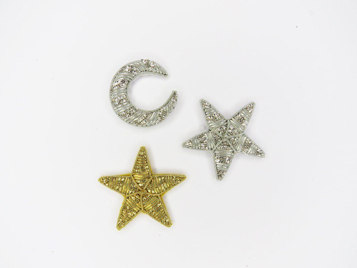 Goldwork Moon and Stars Set – Hand&Lock