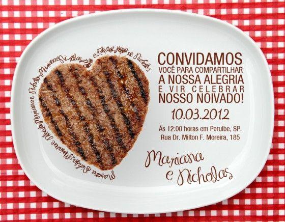 Churrasco De Noivado Amor Pinterest Wedding Invitations E