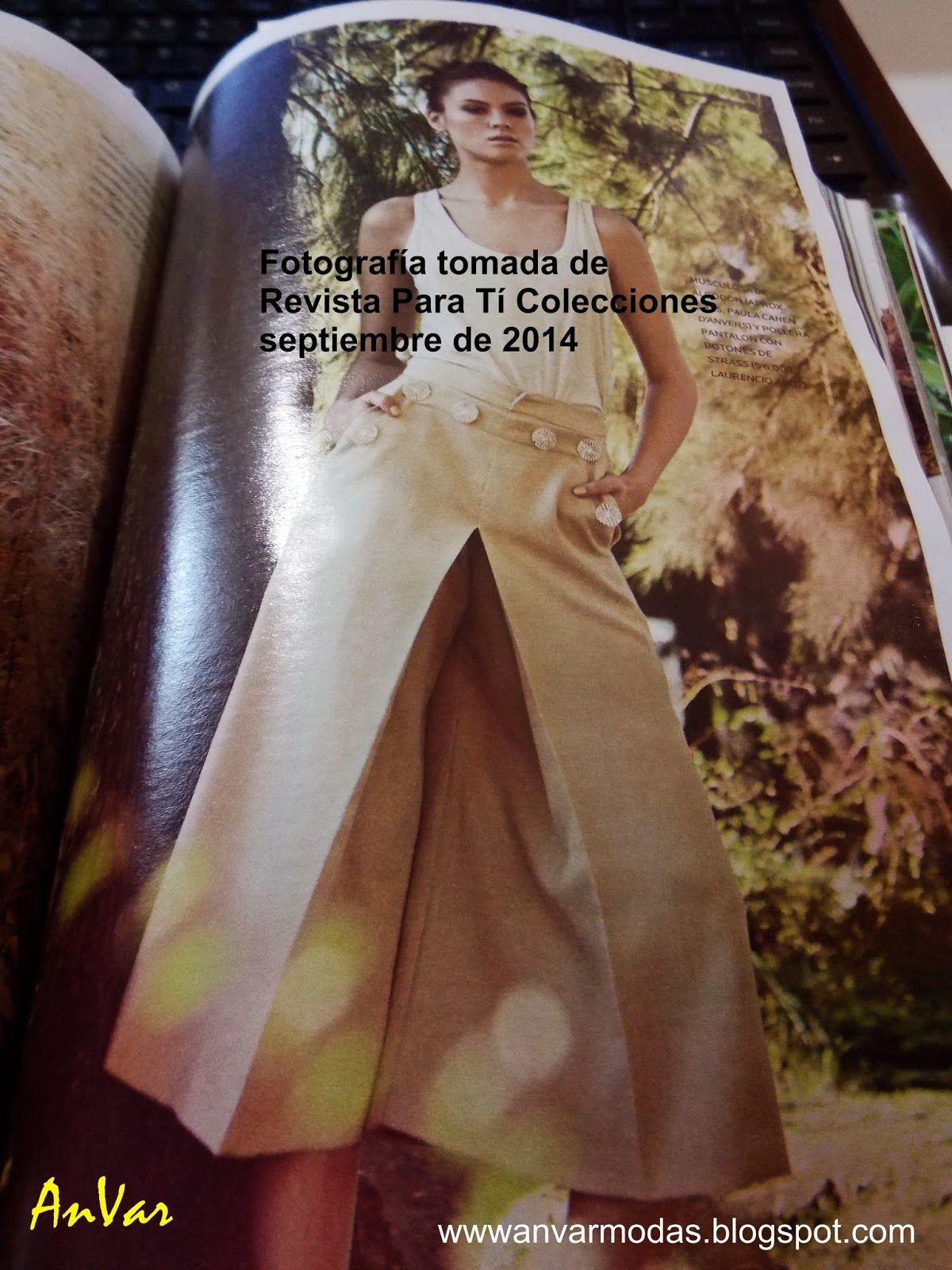 be1d88dda AnVar - Te enseño a coser: TRAZO DE LA FALDA PANTALÓN | CORTE Y ...