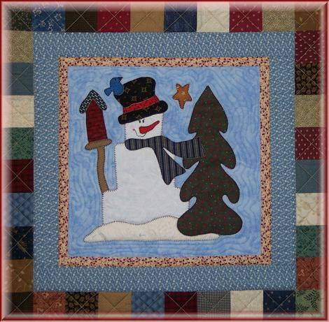 England Design Studios-Snowman Cynthia MR FROSTY Pieced Art Quilt Pattern by
