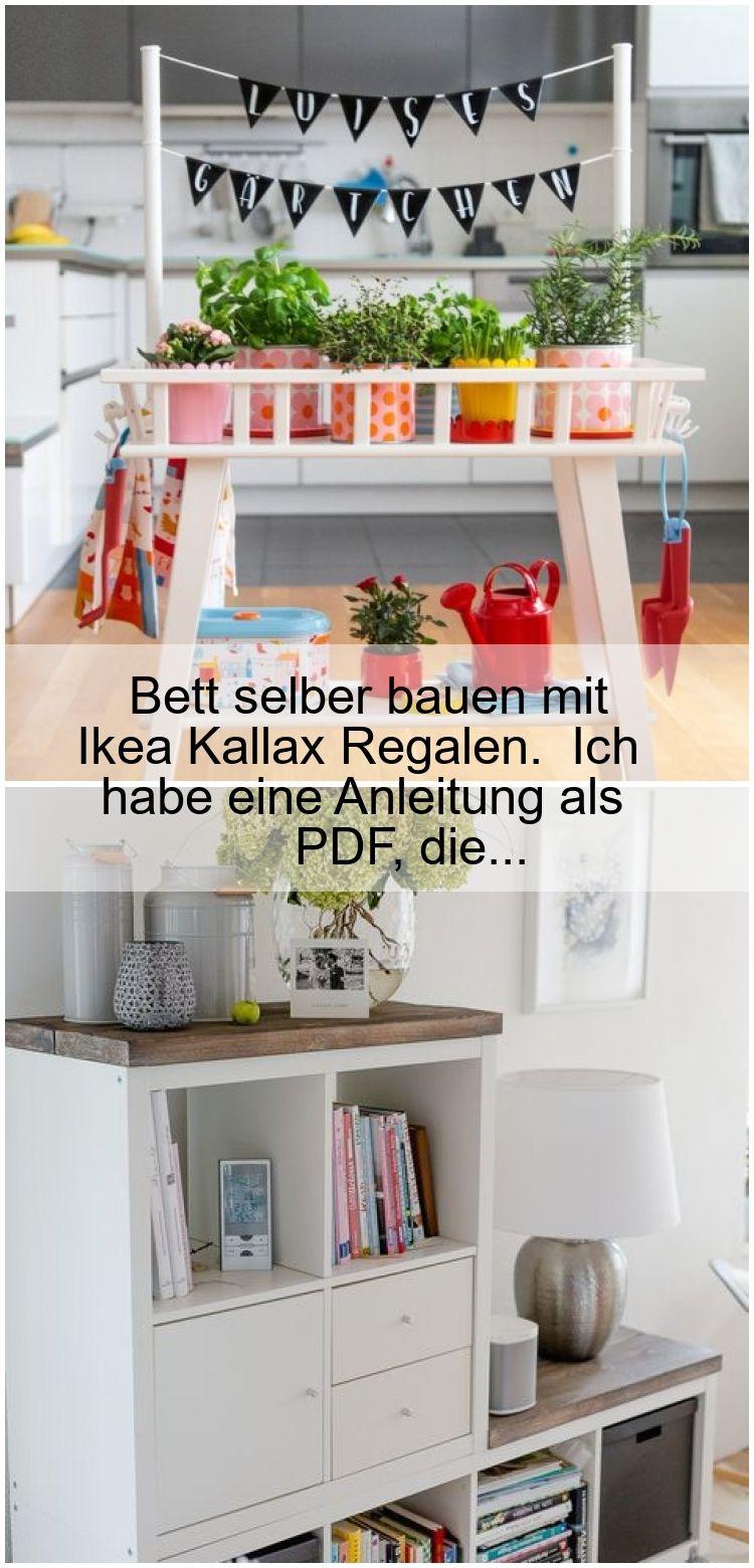 Bett Selber Bauen Mit Ikea Kallax Regalen Ich Habe Eine Anleitung Als Pdf Die Bett Selber Bauen Ikea Kallax Regal Kallax Regal