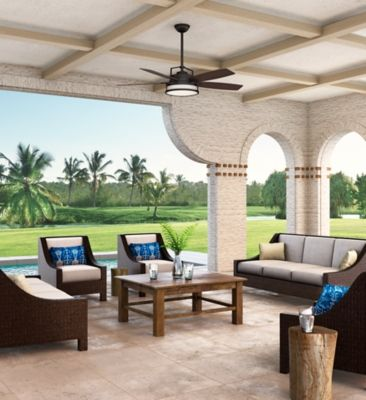 Casablanca Fans View Our Bronze Brown Caneel Bay Ceiling Fan That Has A Transitional Style And Is Meant For An Damp Outdoor