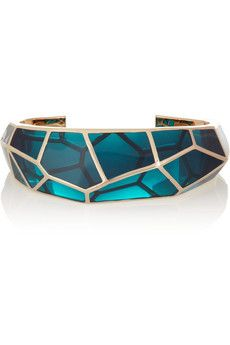 Isharya Louvre gold-plated resin cuff | THE OUTNET