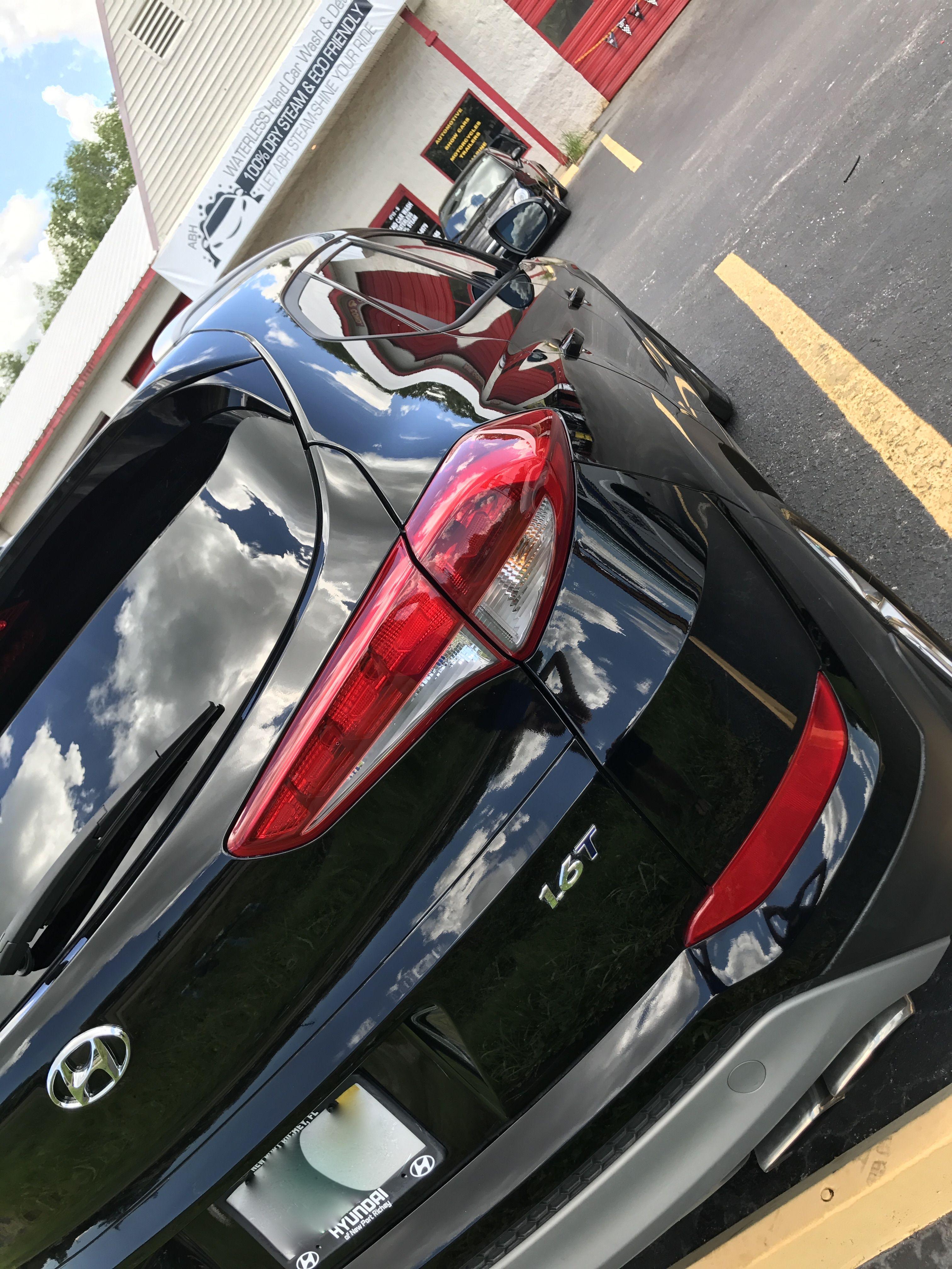 Full Service Steam Hand Car Wash on a Hyundai Tucson abhwaterless