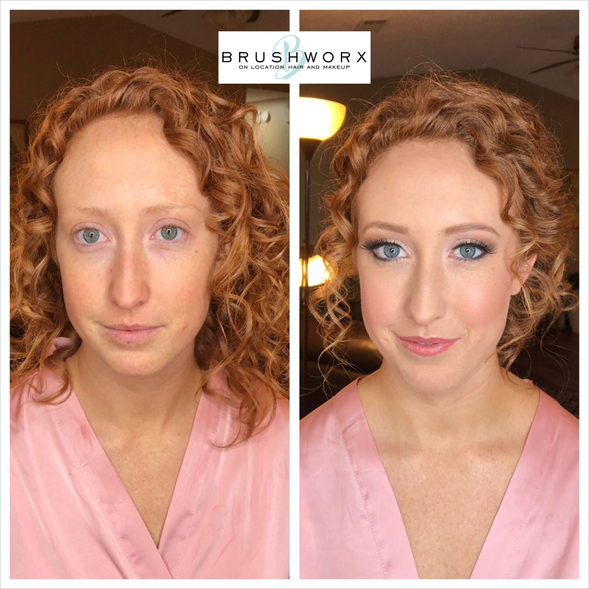 Before and After Bridal Makeup Redhead in 2020 Hair and