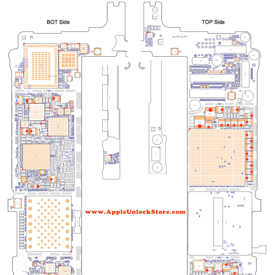 AppleUnlockStore :: SERVICE MANUALS :: iPhone 6S Plus Circuit Diagram  Service Manual Schematic Схема