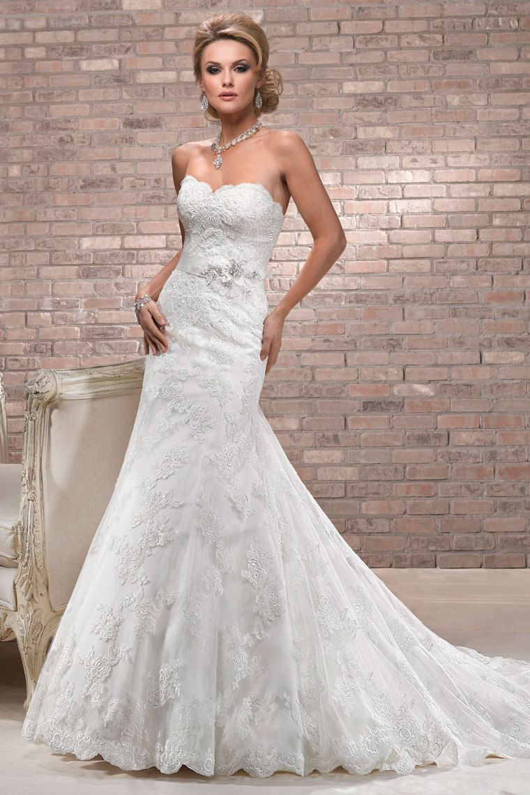 2013 Wedding Dresses Trumpet/Mermaid Strapless Chapel Train Organza Belt Beading & Sequince