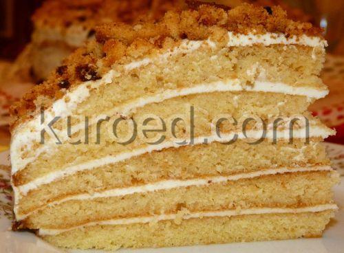 торт Медовый снеговик, срез