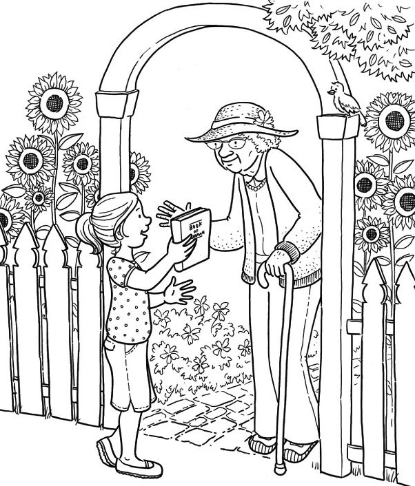 Free lds clipart to color for primary children source coloring page