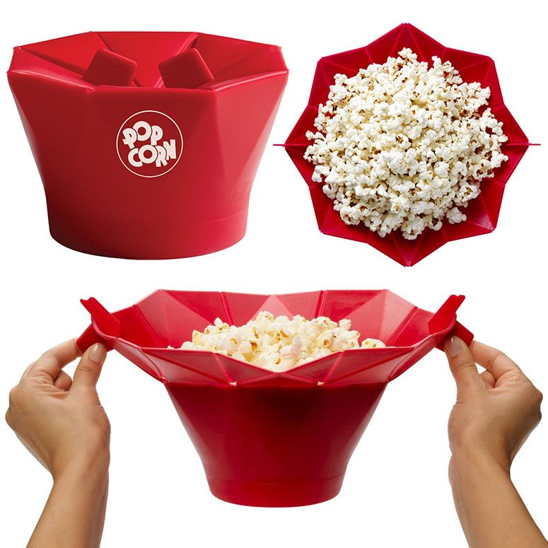 Chefu0027n Pop Top   Reusable Microwave Popcorn Popper / Bowl