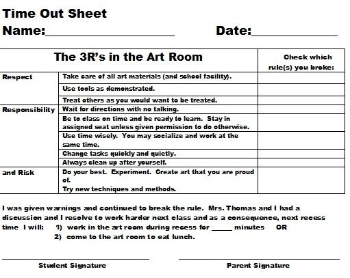 Highschool Art Classroom Rules  Discipline Plan For Art Room