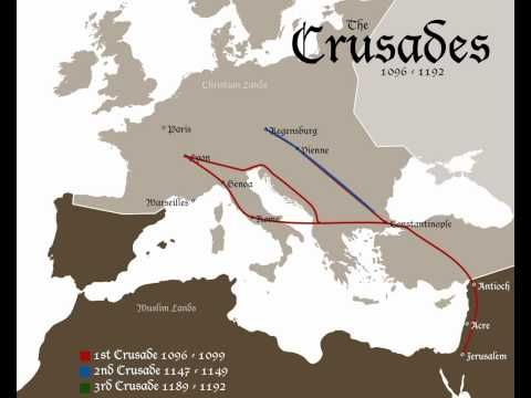 The crusades 1096 1192 invasion map youtube knights templar the crusades 1096 1192 invasion map youtube gumiabroncs Gallery
