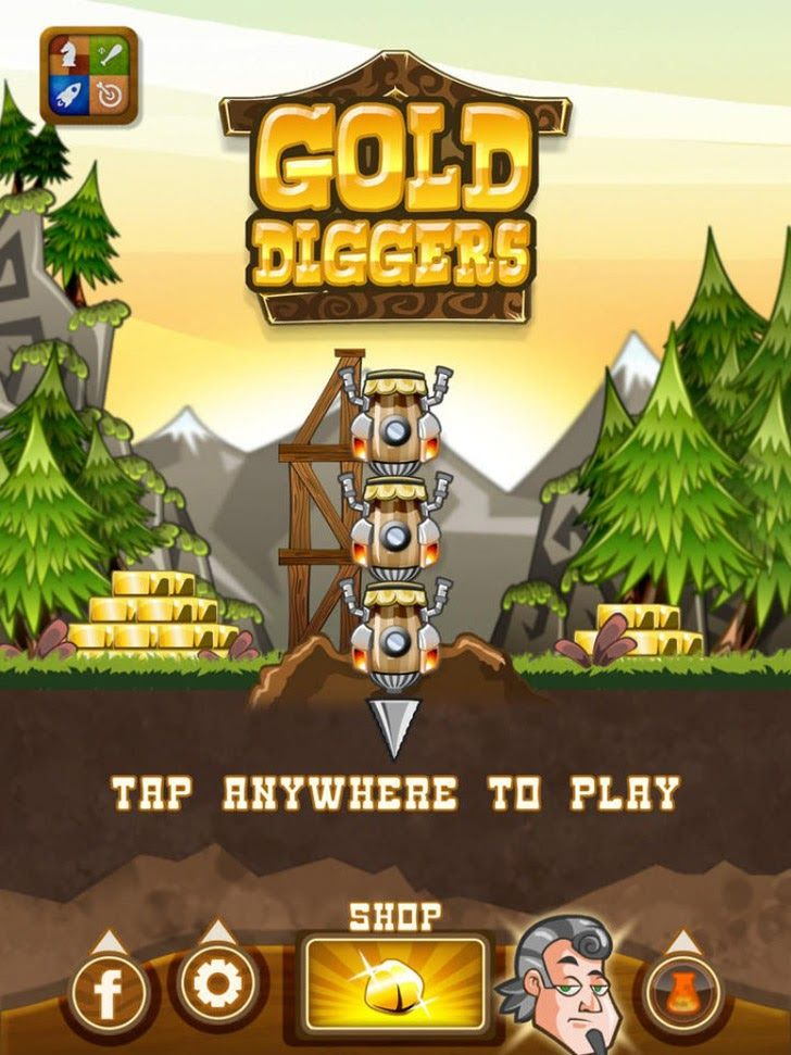 Gold Diggers App by Gamistry. Gold digger, Digger, Free apps