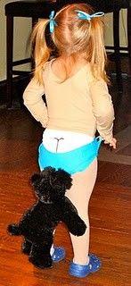 Coppertone girl costume - so adorable & creative.