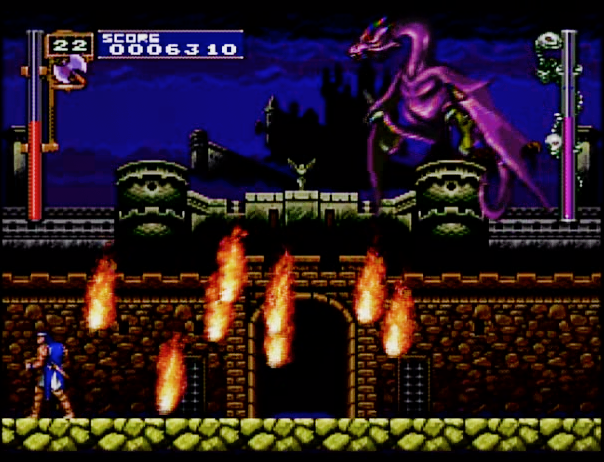 Castlevania Rondo of Blood First boss for the PC Engine