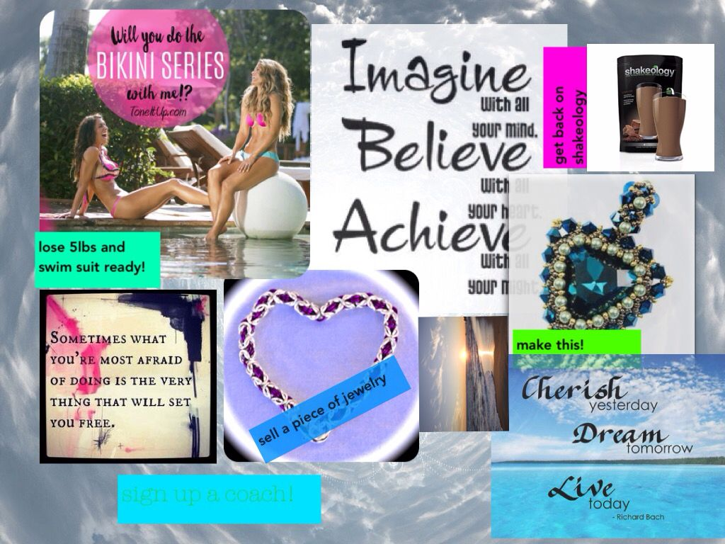 Found a super cool app for vision boards! This is my theme for this month