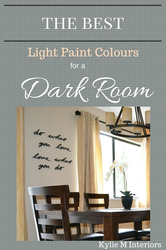 The Best Light Paint Colours for a Dark Room Basement Light