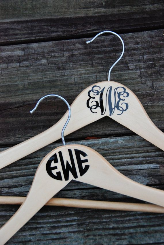 Personalized Hanger - Monogrammed Hanger - Bride/ Groom Hanger - Bridesmaid/ Groomsmen on Etsy, $6.00