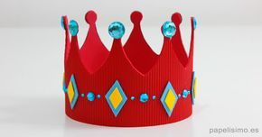 corona de goma eva plantillas foamy diy king crown template