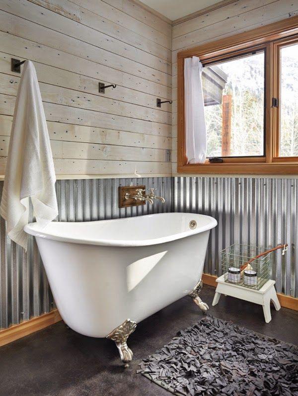 30 ideas de decoración para baños rústicos pequeños Baños rusticos