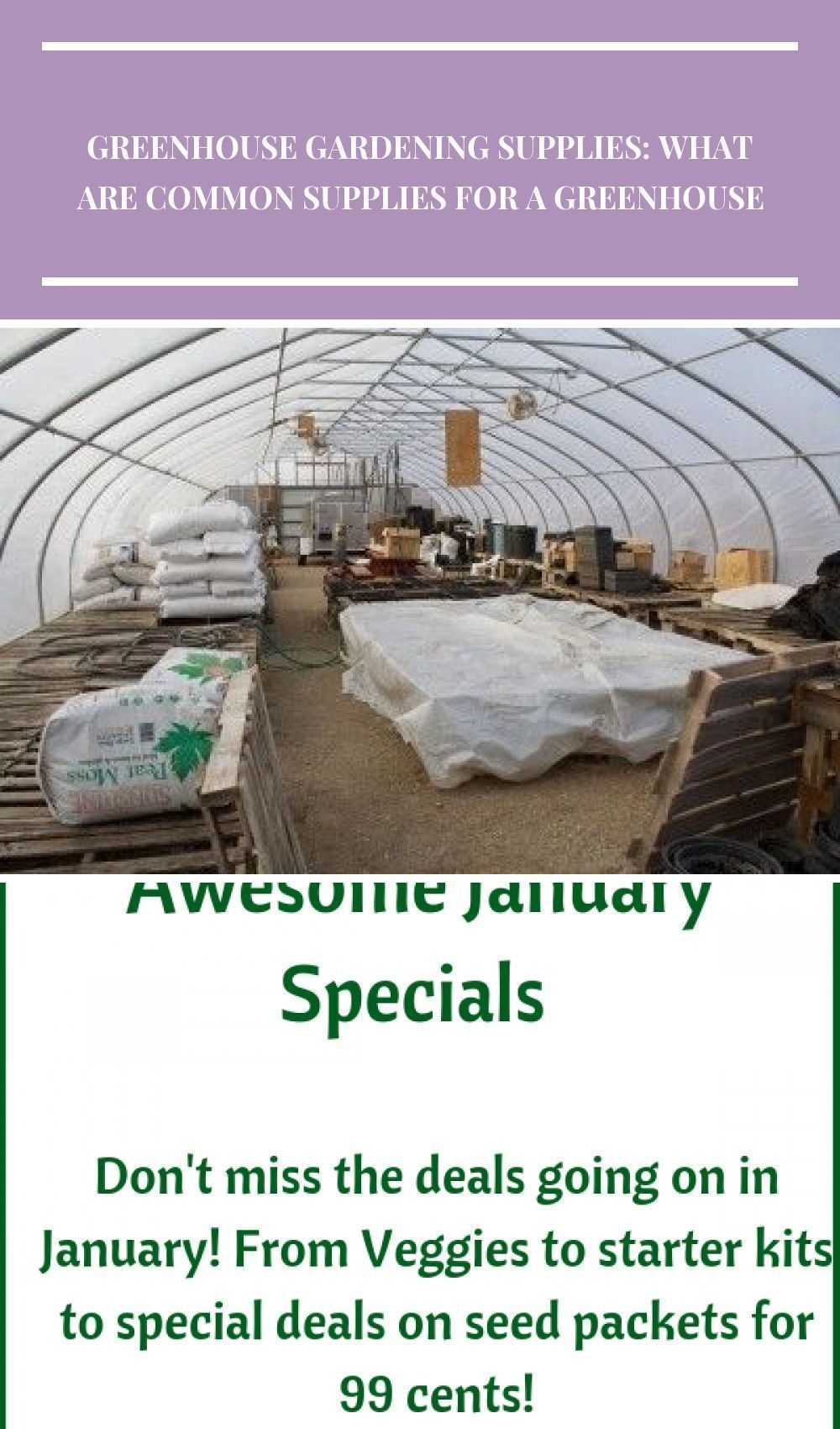 Greenhouse Supply List Important Items For Greenhouse Gardening