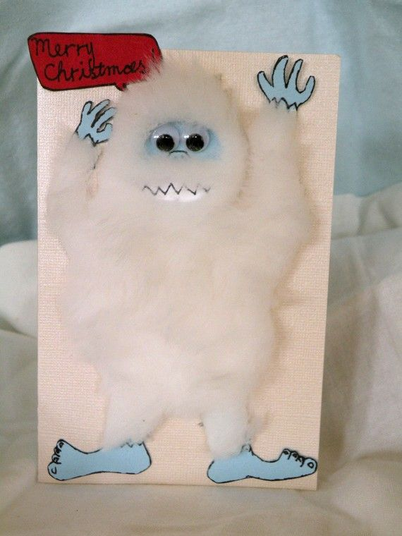 Hmm maybe this years Christmas card Bumble the Abominable Snow