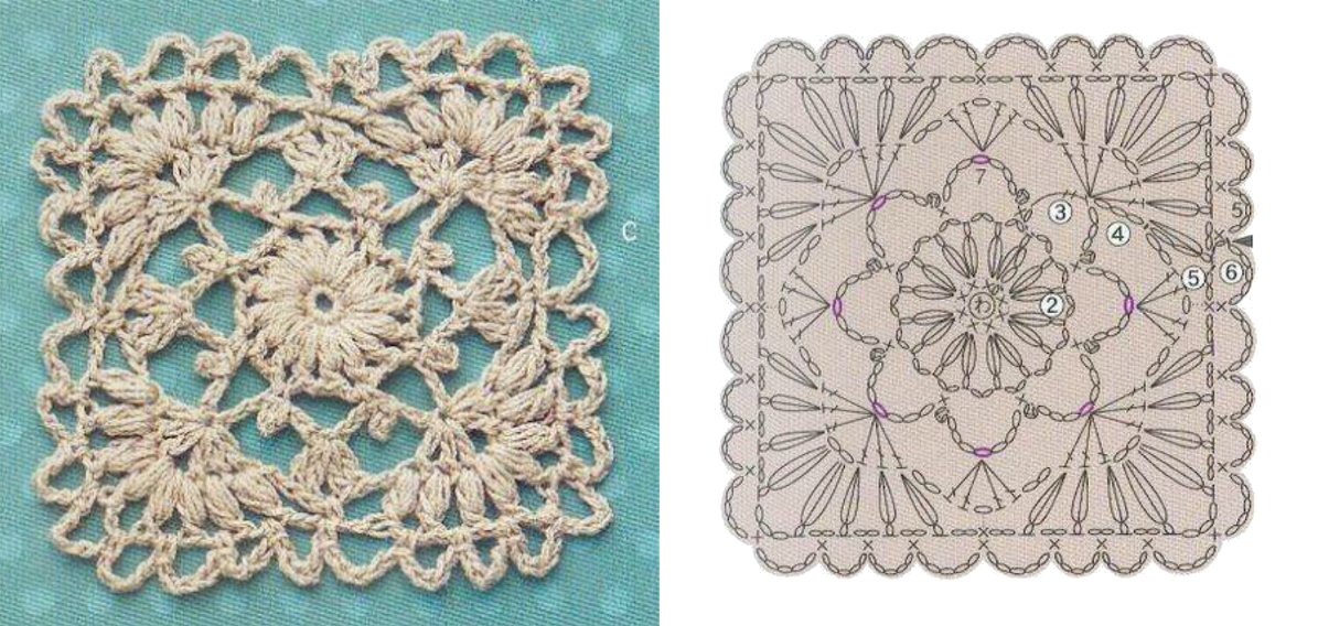 Crochet & knitting : Photo... Beautiful and Lacy motif! | Crochet 25 ...