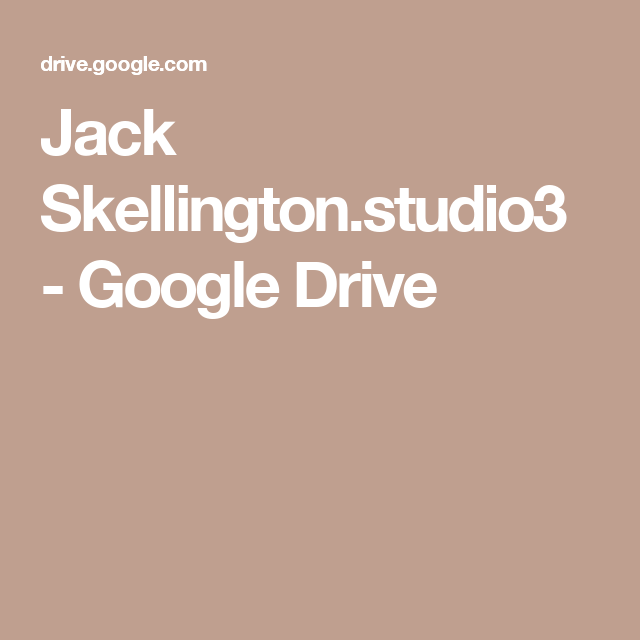 Jack Skellington.studio3 - Google Drive