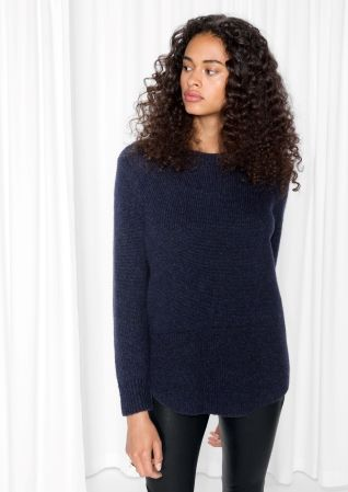 & Other Stories image 2 of Alpaca-Blend Sweater in Navy
