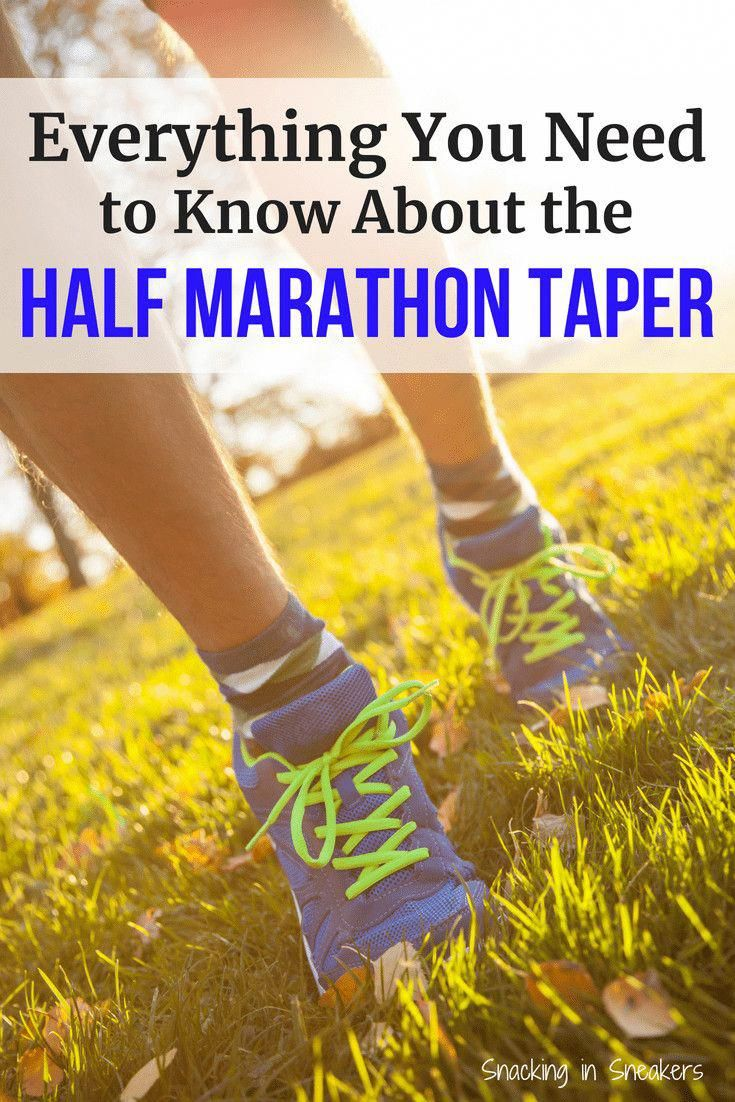 In the midst of half marathon training?  Don't forget about the half marathon taper!  These running...