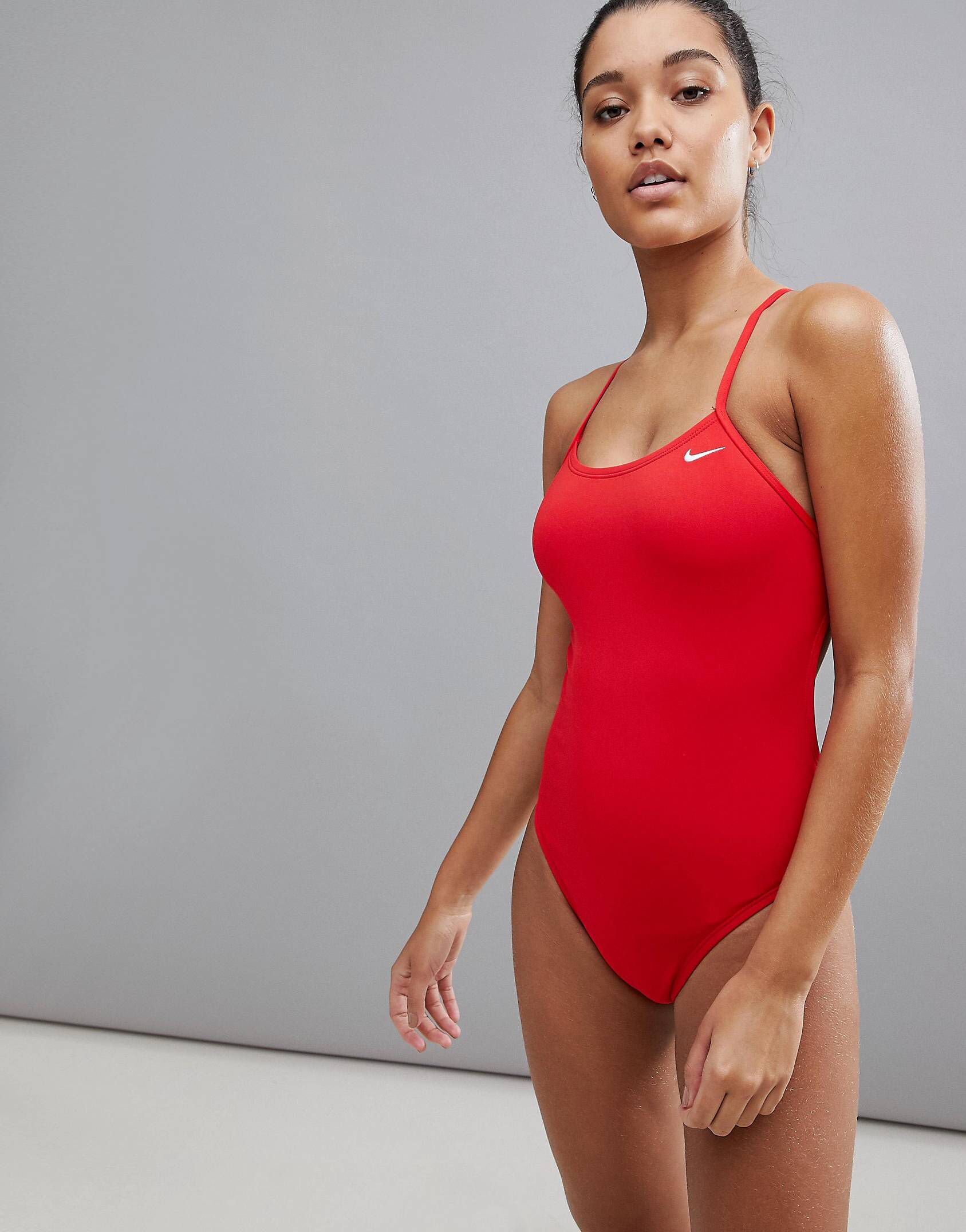 72c186aadac Nike cut-out swimsuit in red in 2019 | Nike!! | Nike one piece ...