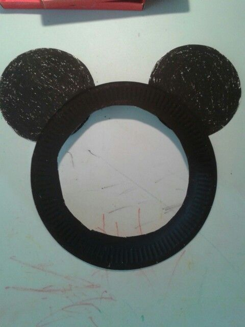 Mickey mouse paper plate for toddlers mask & Mickey mouse paper plate for toddlers mask | Crafts | Pinterest ...