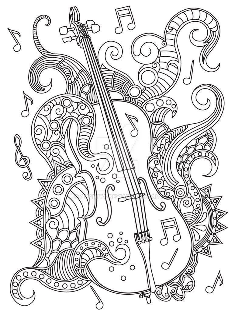 GST kolorowanka muzyka 04 by QuaMiya on DeviantArt
