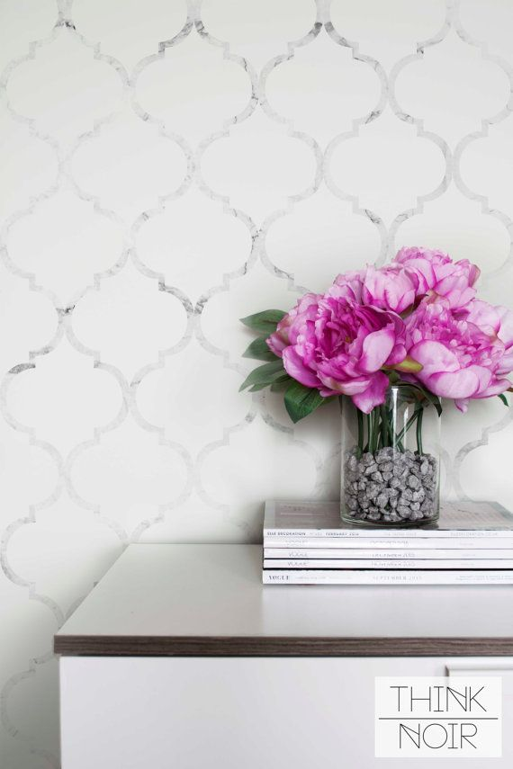 Marble Moroccan Temporary Wallpaper Moroccan Pattern
