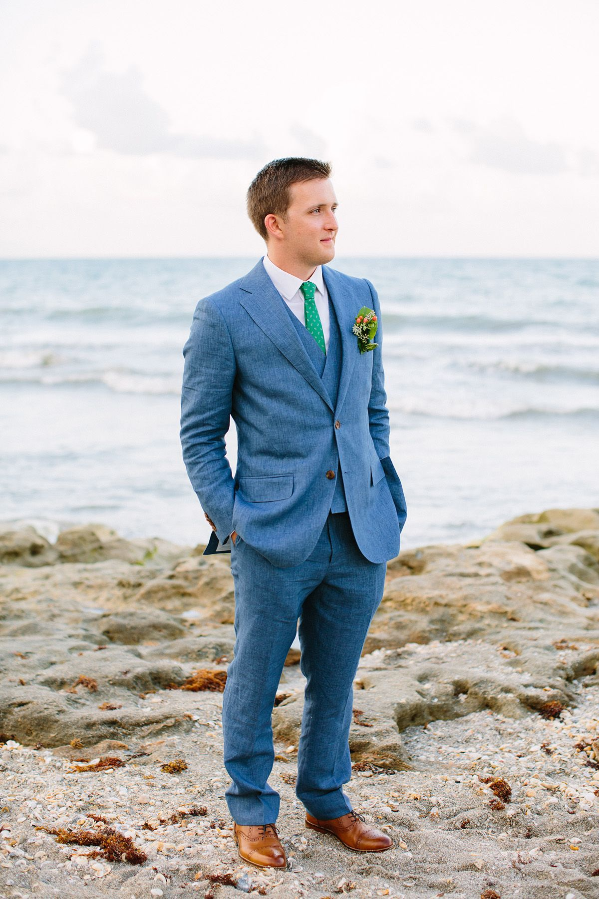 Colorful Beach Wedding: Paige & Adam at the Jupiter Beach Resort ...