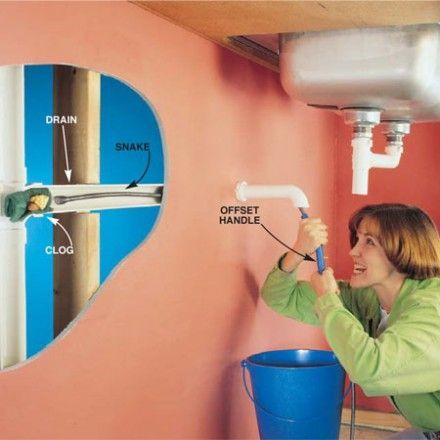 Kitchen Sink Snake White Furniture Learn Using A Plumbing Pinterest