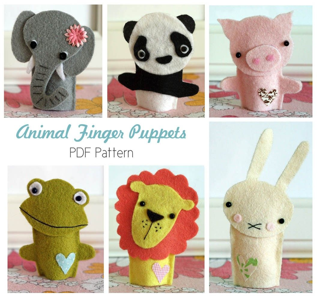 how to make felt finger puppets