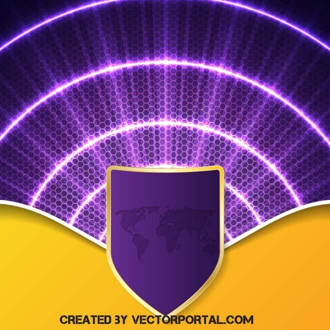 Yellow And Purple Abstract Vector Background Purple Abstract