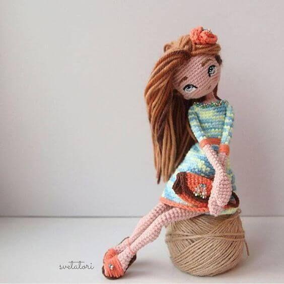 Muñeca preciosa amigurumi | muñecas en crochet | Pinterest | Muñecas ...