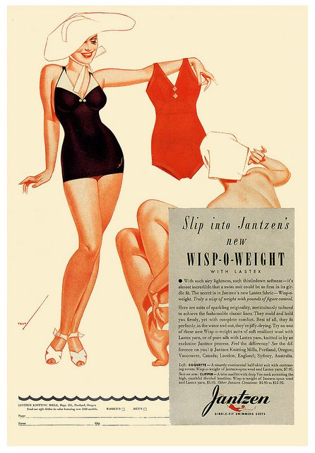 Jantzen's Wisp O Weight    1938; copyright the estate of George Petty.