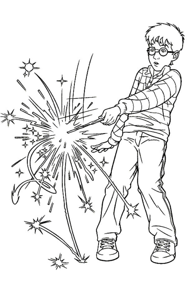 Harry Potter Spell Wrong Magic Word Coloring Page Netart Harry Potter Coloring Pages Harry Potter Colors Harry Potter Drawings