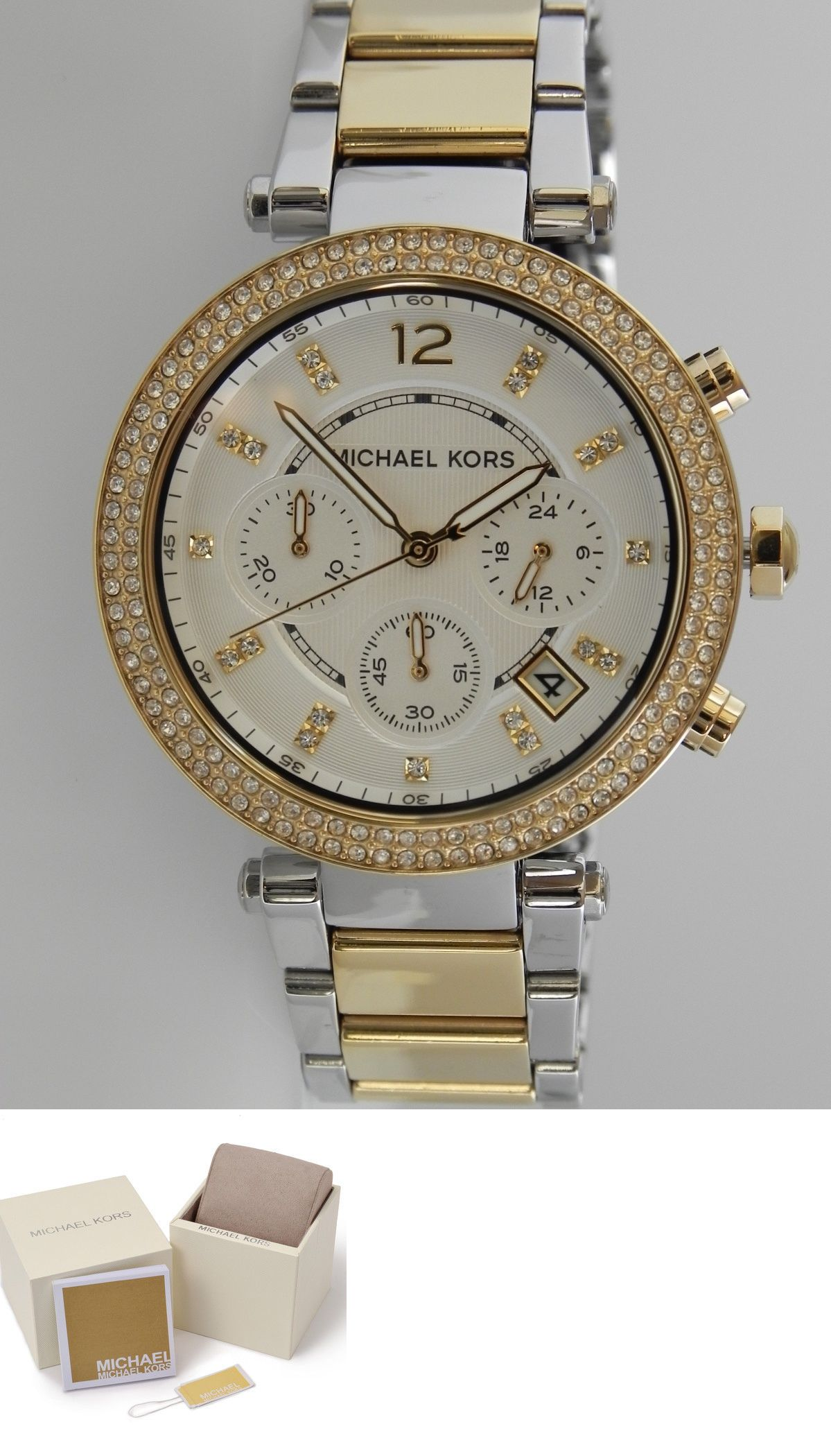 7d8afeb9b6d8 Parts and Accessories 51021  Michael Kors Women S Mk5626 Chronograph Parker  Two Tone Stainless Steel Watch -  BUY IT NOW ONLY   106.99 on  eBay  parts  ...
