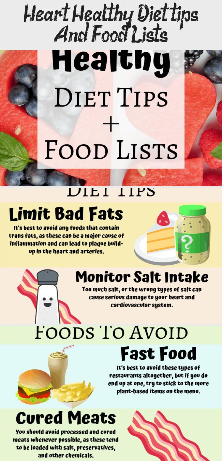 In This Post I M Going To Cover Some Diet Tips As Well As What Foods You Should Eat And What Food In 2020 Heart Healthy Diet Healthy Diet