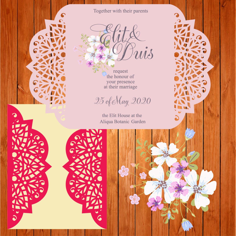 Invitación de la boda tarjeta plantilla, arabescos, figuras (studio ...