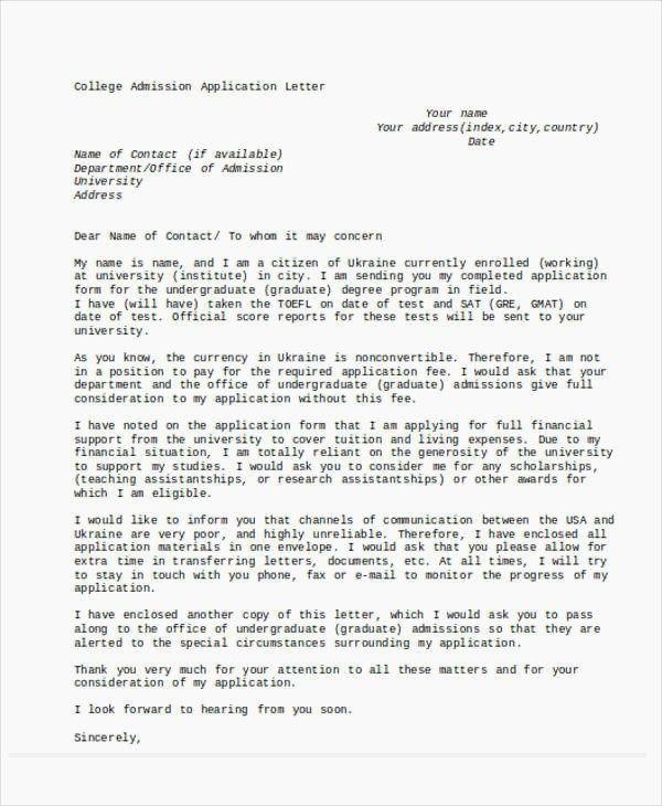 Cover Letter 47 Application Letter Template It Support Administrator ...