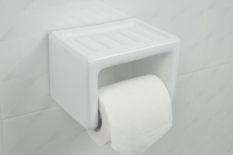 Porcelain Toilet Paper Holder Ceramic Wall Mount White In 2020