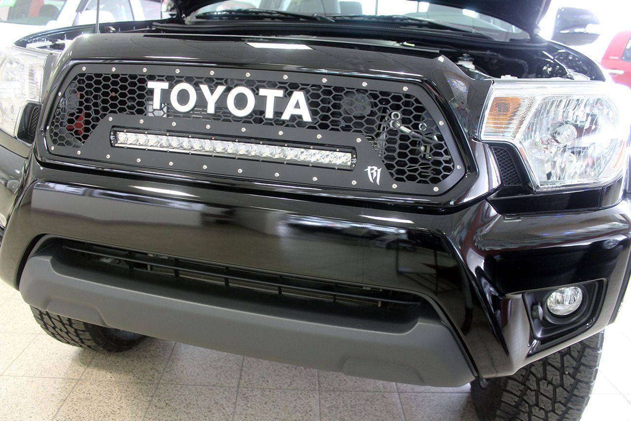 2015 toyota tacoma led light bar front grille