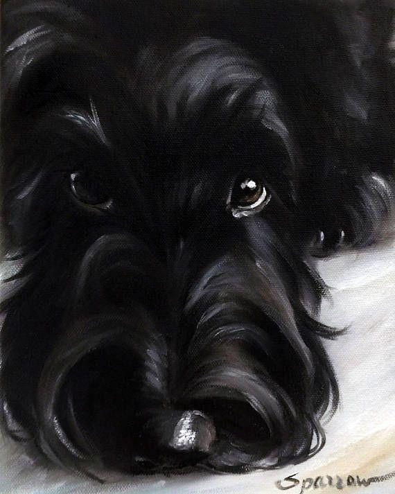 "Scottie ""Pout"" Scotty dog Scottish Terrier Art by Mary"