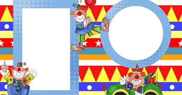 Invitaciones Para Imprimir Gratis De Payasos Cumpleaños